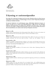 Utlysning av nationsstipendier - Södermanlands