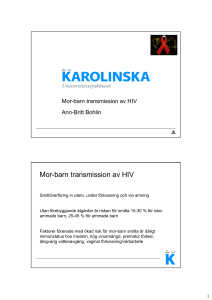 Mor-barn transmission av HIV