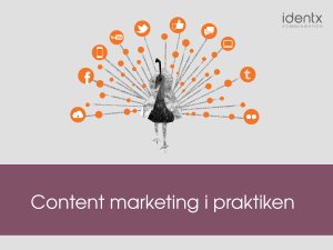 Content marketing i praktiken