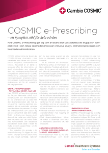 COSMIC e-Prescribing - Cambio Healthcare Systems