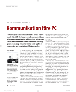 Kommunikation före PC