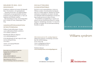 Williams syndrom - Socialstyrelsen