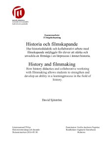 Historia och filmskapande History and filmmaking
