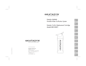Katadyn MyBottle Portable Water Purification System Katadyn
