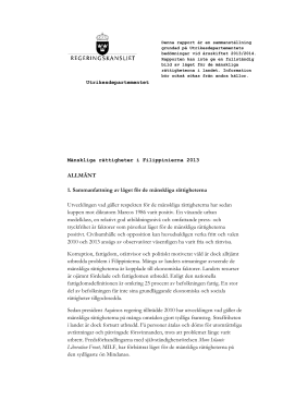 Filippinerna, MR-rapport 2013