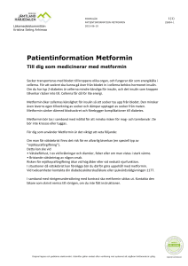 Patientinformation Metformin