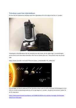 Solkatter och spegelteleskop andra avsnittet