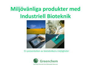Slide 1 - Greenchem