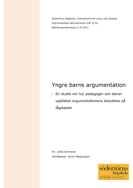 Yngre barns argumentation