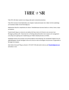 Tribe Of Sir AB söker student inom design alternativt