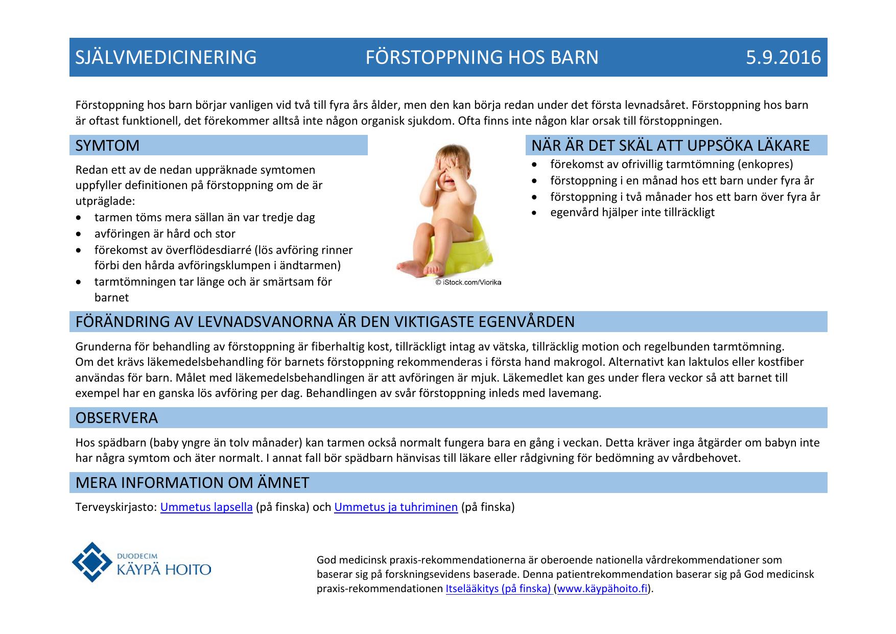 Självmedicinering Förstoppning Hos Barn 592016