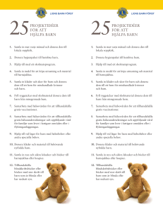 25 Project Ideas to Serve Children