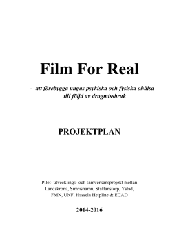 Film For Real - Region Skåne
