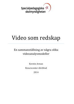 Video som redskap