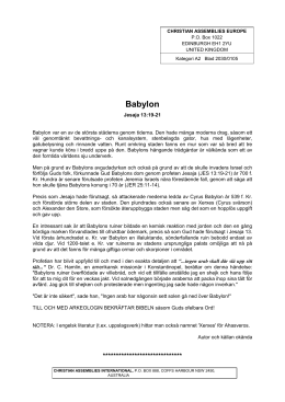 Babylon - Christian Assemblies International