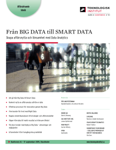 Från BIG DATA till SMART DATA