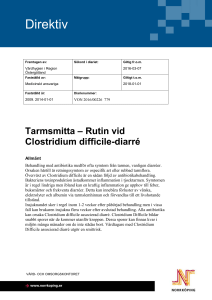 Rutin vid Clostridium difficile