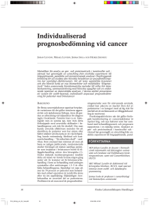 Individualiserad prognosbedömning vid cancer