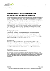 Infektioner i mag-tarmkanalen Clostridium difficile-infektion
