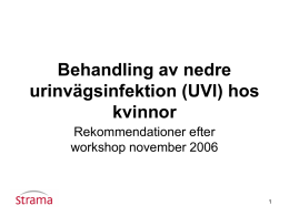 inkubationstid urinvägsinfektion