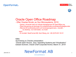 Oracle Open Office Roadmap