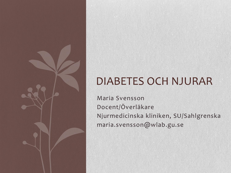 diabetes och njurar