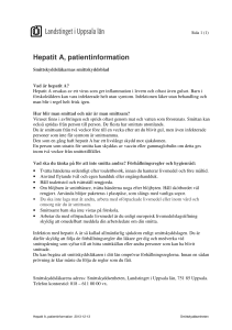 Hepatit A, patientinformation 2013-12-13