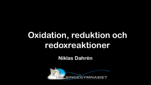 Oxidation, reduktion och redoxreaktioner