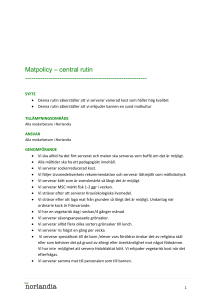 Matpolicy - central rutin(1)