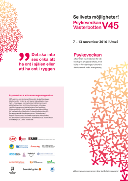 Program Umeå 2016 - Region Västerbotten