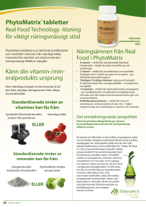 PhytoMatrix® tabletter