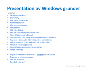 Presentation av Windows grunder