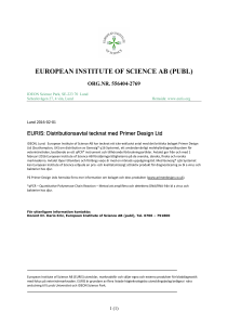 EURIS PR 2016 02 01 Primerdesign agreement