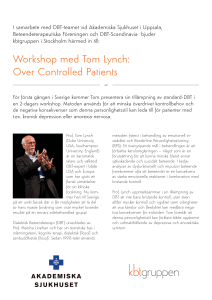 Workshop med Tom Lynch: Over Controlled Patients - KBT