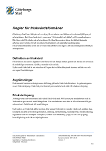 Definition av friskvård