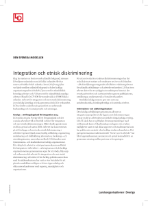 Integration och etnisk diskriminering