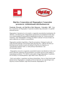Digi-Key Corporation och Magnasphere Corporation presenterar v