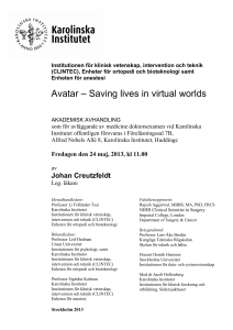Avatar – Saving lives in virtual worlds - KI Open Archive