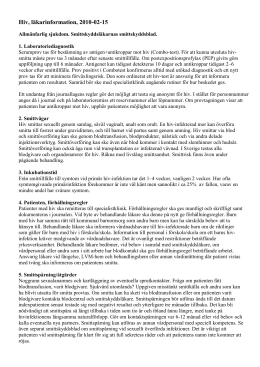 HIV, läkarinformation 2004-07-01