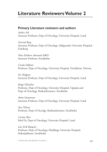 Literature Reviewers Volume 2