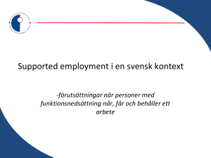 Supported employment i en svensk kontext