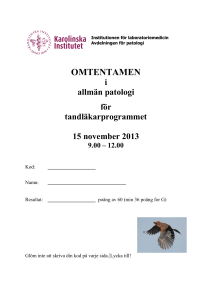 Odont Omtentamen H2013