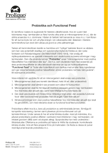 Probiotika och Functional Feed