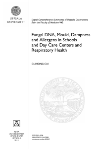 Fungal DNA, Mould, Dampness and Allergens in