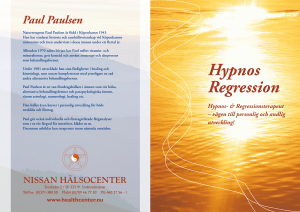 Hypnos Regression - Nissan Hälsocenter
