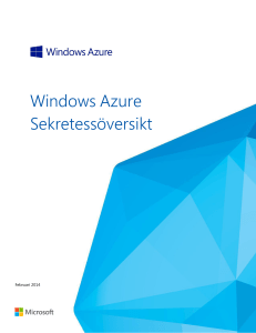 Windows Azure Sekretessöversikt