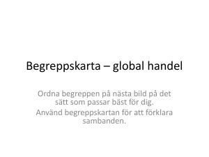 Begreppskarta * global handel