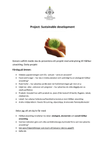 Project: Sustainable development