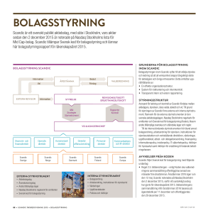bolagsstyrning - Scandic Hotels Group