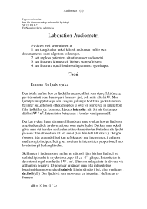 Laboration Audiometri - UU Studentportalen